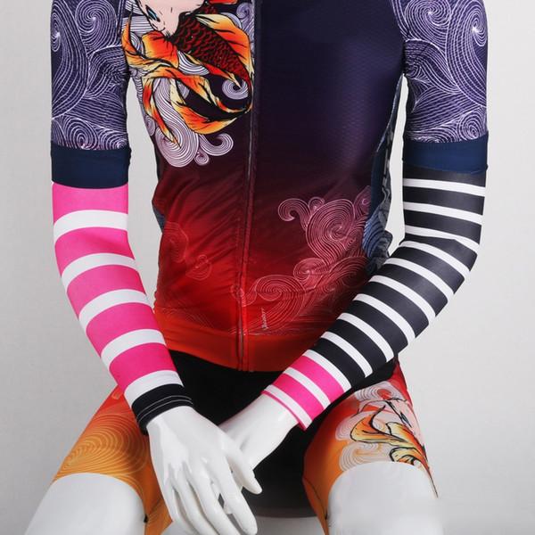 Защита от ультрафиолетового излучения Полосатый велосипед Armarmmer Спортивная манжета езда Бег Рукав рукава Открытый Отдых Велоспорт Грелки