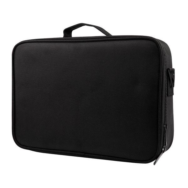 Large Capacity Makeup Case 3 Layers Cosmetic Organizer Brush Bag Makeup Train Case Artist Box For Hair Curler Hair Stra