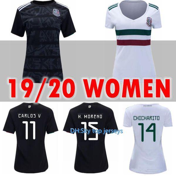 camiseta de fútbol de méxico 2019 2020 nueva 18 19 20 CHICHARITO M.LAYUN R.JIMENEZ Carlos Vela G.DOS SANTOS A GUARDADO Camisetas de fútbol