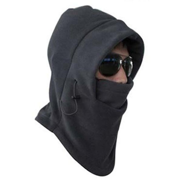 Sıcak Satış Termal Polar Balaclava Hood Swat Rüzgar Kış Stoper Yüz Maskesi Unisex Şapka koyu gri erkekler veya kadınlar için sıcak tutmak