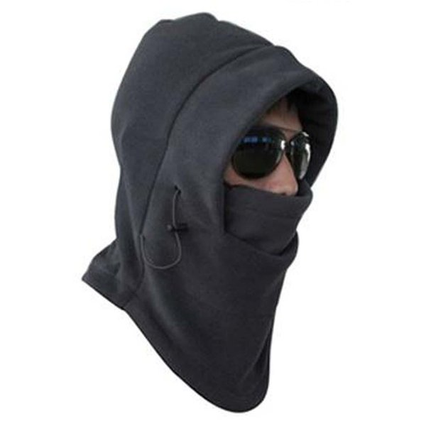 Venta caliente Thermal Fleece Balaclava Hood Swat Wind Winter Stopper Mascarilla Unisex Sombrero gris oscuro mantener caliente para hombres o mujeres