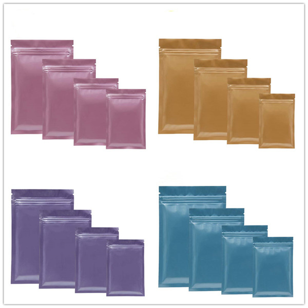 Hot Multi Color Resealable Zip Mylar Bag Food Storage Aluminum Foil Bags plastic packing bag Smell Proof Pouches