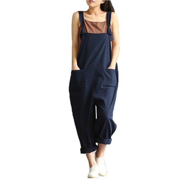 Oversized Women's Casual Long Jumpsuit Summer Ladies Oversized Bib Pants Trousers Women Elegant Romper Overall Pants #Ni