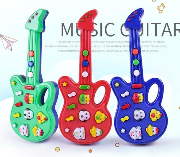 Compre Dhl 72 Unids Nueva Moda De Dibujos Animados Guitarra De Juguete Música De Alta Calidad Guitarra Eléctrica Para Niños Instrumentos Musicales