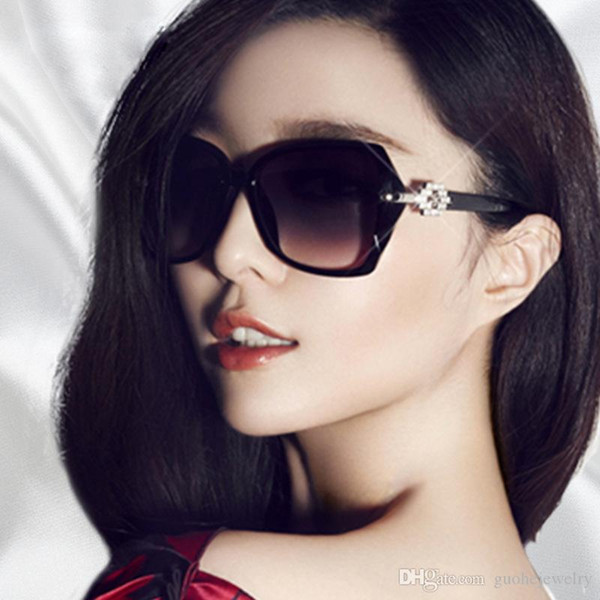 New type sunglasses for women European and American fashion sunglasses tide large frame sunglasses free shipping