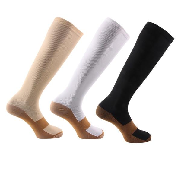 Compression Socks Women & Men Pressure long sock Nylon Varicose Vein Stocking knee high Leg Support Stretch Compression Stockings