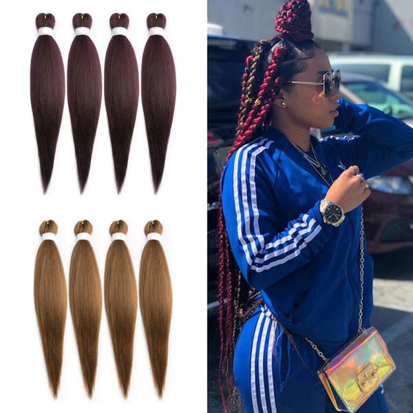 Jumbo tresses cheveux 20 pouces tressage cheveux pure synthétique tressage extensions de cheveux pour crochet eau chaude ensemble