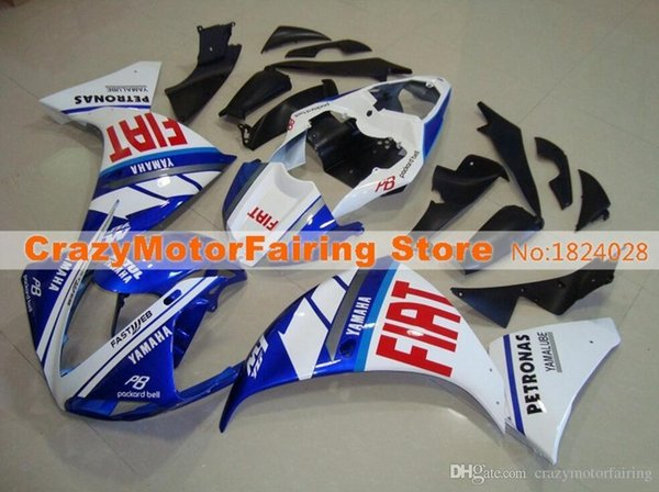 3 Free Gifts New ABS Injection High quality Fairing Kit 100% Fit For YAMAHA YZF1000 R1 YZF-R1 2009 2010 2011 09 10 11 white blue red FIAT