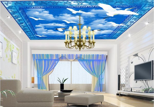 2019 Custom 3D Wallpaper Wall Painting Ceiling Decor Photo Sky Dove Living  Room Bedroom Ceiling Mural Wallpaper Desktop Wallpapers Desktop Wallpapers  ...