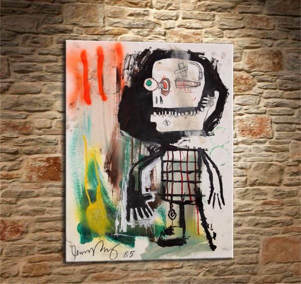 Jean Michel Basquiat - # 31,1 Piezas Impresiones de lienzos Arte de la pared Pintura al óleo Decoración para el hogar (sin marco / enmarcado) 12X16