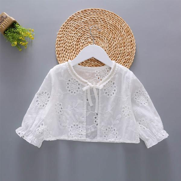 New Arrival Summer Girls Bolero Kids Long Sleeves Cotton Sun-protective Clothing Fashion Girls Shrug Short Jacket