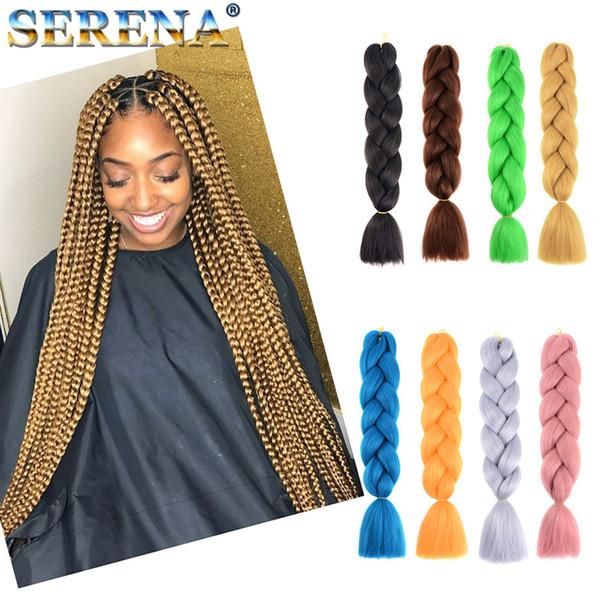 Xpression trança de cabelo kanekalon sintético Tranças De Crochê torção 24 inch 100g Extensões de Cabelo de Crochê jumbo tranças Extensões de Cabelo Sintético