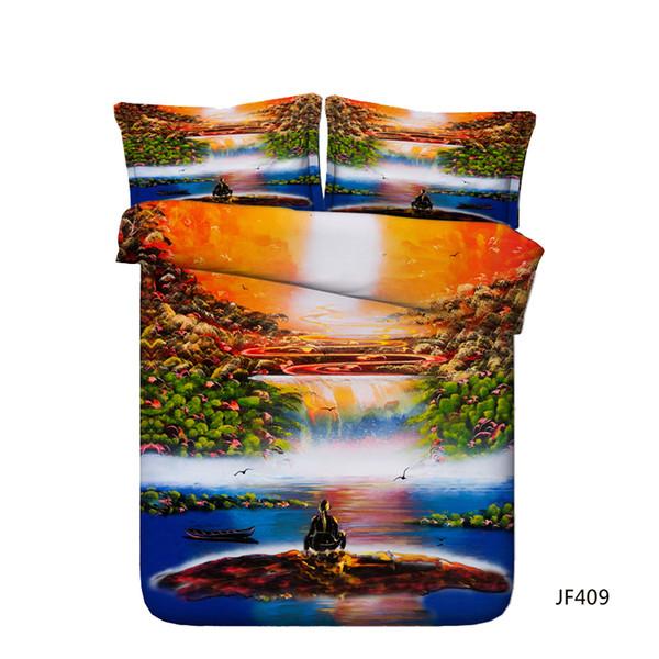 Decorative 3 Piece Bedding Set With 2 Pillow Shams 3D Galaxy Pyramid Meditation Yoga Duvet Cover Set Universe Ocean Dolphin Bed Set Kids