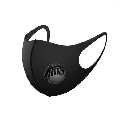 schwarze Maske mit Ventil (Erwachsene)
