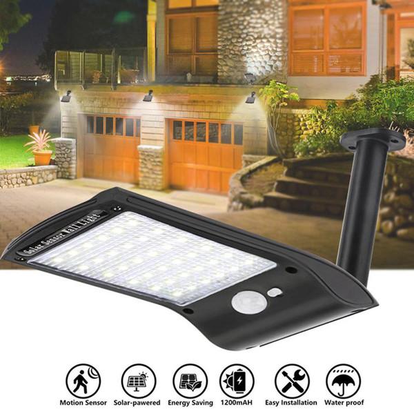 best selling Edison2011 PIR 36 LEDs Solar Wall Light Lamp Mini Size 3 Modes Outdoor Waterproof Garden Outdoor Pathway Solar Light