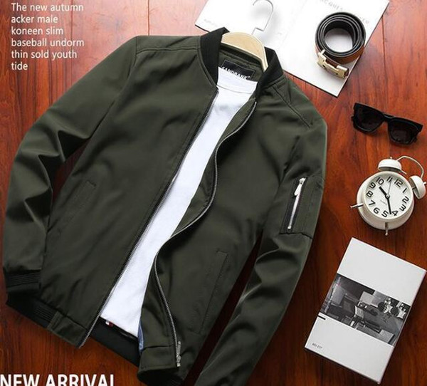 Spring jacket men's winter casual spring and autumn models 2019 Korean version of the trend of wild jacket men's spring clothes#003