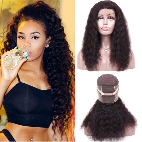 360 Full Lace Human Hair Wigs Full Lace Human Hair Wigs Brazilian Deep Wave Curly Virgin Human Wig Remy