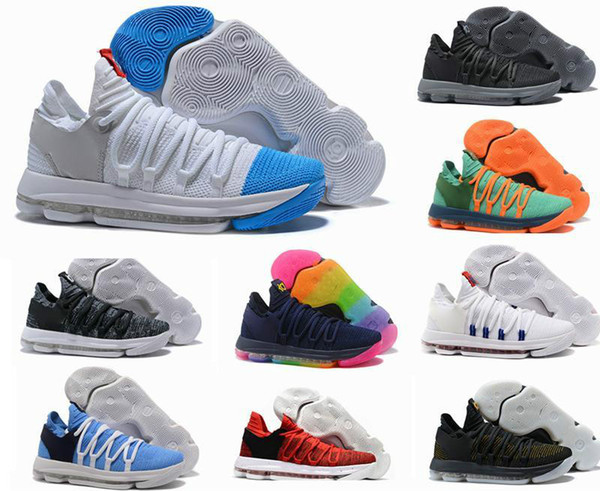 2019 New Arrival KD 10 X Oreo Bird of Para Basketball Shoes High Quality Kevin Durant 10s Bounce Airs Cushion Sports Sneakers Designers Shoe