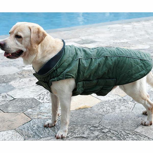 10pcs/lot Winter Pet Dog Jacket Vest Pet Warm Clothes with Reflecting Brim 6 Colors Available