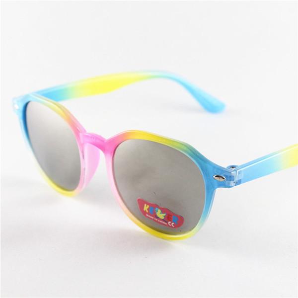 DHL Kinder Vintage Runde Sonnenbrille Neue Ankunft Trendy Jungen Mädchen UV400 Designer Brille Teenager Mode Rahmen Kinder Pfeil Brillen