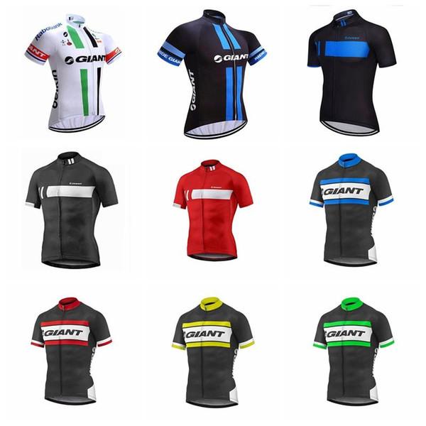 Гигант 2019 мужчины летняя команда Велоспорт короткие рукава Джерси высокое качество горный велосипед одежда дышащая быстро сухой K122828