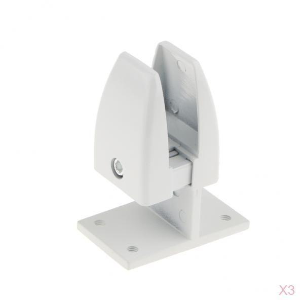 best selling 3x Aluminum Alloy Office Desktop Screen Partition Shelf Clamp Support Clip