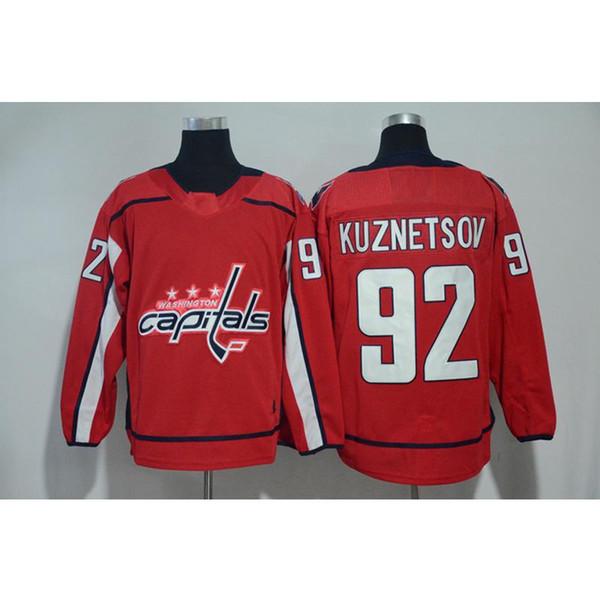 Mens Washington capitais Evgeny Kuznetsov casa longe vermelho branco hóquei Jersey todos os jogadores em