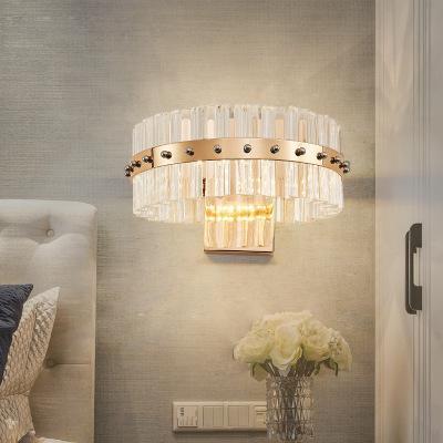 Moderne Kurzkristallwand-Lampen-Leuchter Luster Designer kreative Nacht Wohnzimmer-Wand-Lampen-warmes Weiß LED Wandleuchten