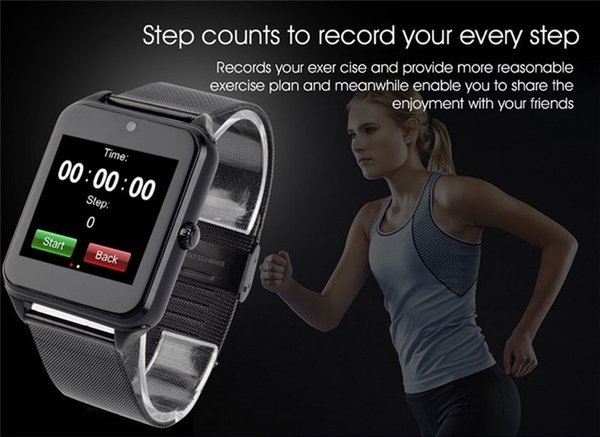 2022 20X Bluetooth smart Watch Phone Z60 in acciaio inox di sostegno SIM TF card Fotocamera Fitness Tracker GT08 DZ09 Smartwatch per IOS Android N-B