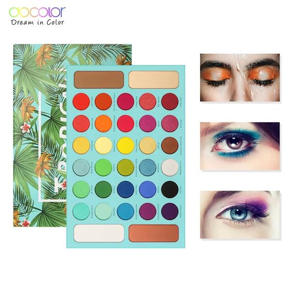 Palette di ombretti tropicali Docolor 34 Palette di ombretti colorati Ombretto opaco Palette di ombretti altamente pigmentati Cosmetici di bellezza