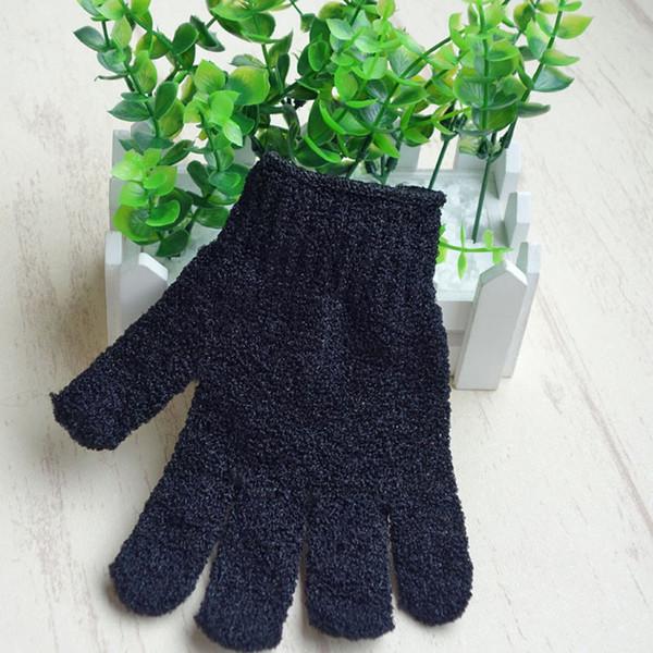 Exfoliating Black Spa Bath Gloves Nylon Brush Scrub Shower Gloves Scrubber
