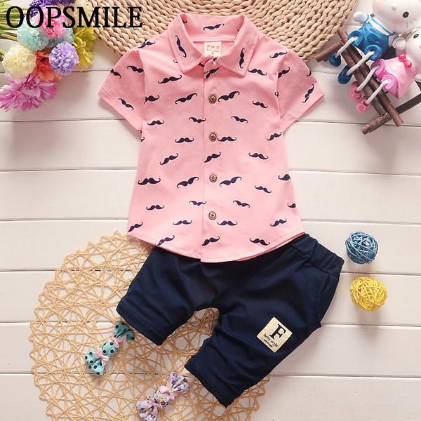 Summer Children's Clothing Sets Cotton Baby Boy's Suit Sets Casual T-Shirt +Short Gentleman Pants Clothes 2pcs