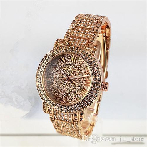 top popular Luxury watches Women Watch M Diamonds Dial Band Roman numerals Quartz Watches For Womens Ladies Designer Watches free shipping 2020