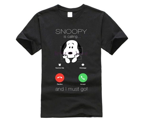Sno opy Is Calling And I Must Go Incoming Call Shirts Style Natural Cotton O-neck Tee shirt Classic Style T-shirt