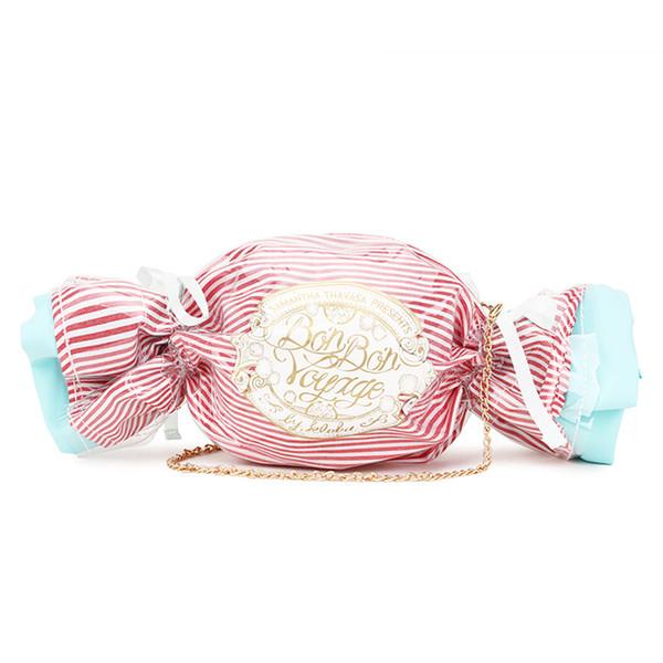 Cute Candy Design Handbags Women Purses Mini Sugar Chain Crossbody Messenger Bag Women Pouch Ladies Shoulder Bag Pvc Day Clutch
