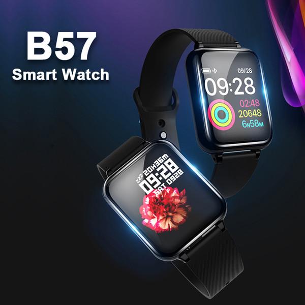 B57 Sport Smart Montres Android Montre Femmes Hommes Étanche Smart montre Avec La Fréquence Cardiaque Tension Artérielle Smartwatch Pour IOS téléphone