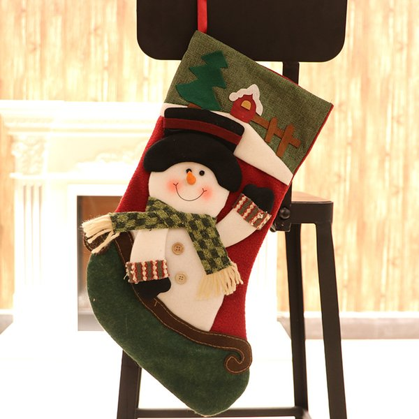 3 Styles Christmas Stockings Children Christmas Gift Bags Xmas Party  Hanging Stocking Christmas Tree Ornament DHL Discount Holiday Decorations  ...