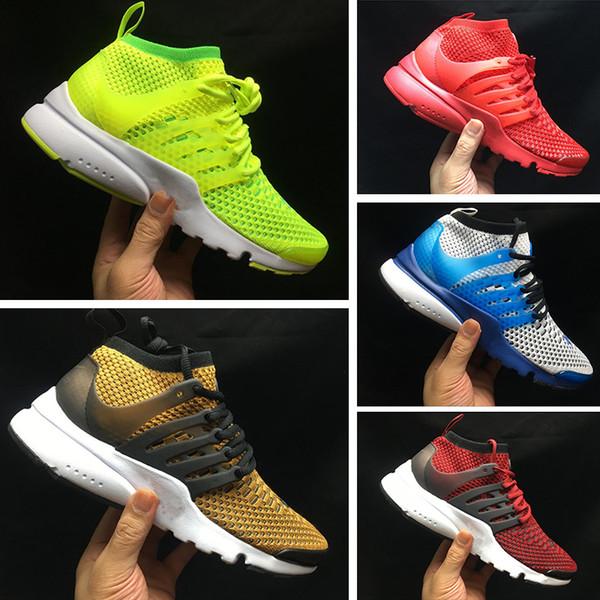 Nike Presto React 2019 Top Qualité Presto 5 Chaussures De Course 2018 Hommes Femmes BR QS Respirer Noir Blanc Jaune Sports En Plein Air Casual Marche Sneakers