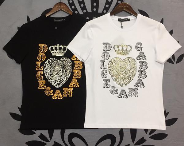 19ss Sommer T-Shirt Herren Street Dance Hip Hop Liebesbriefe Komfort T-Shirt Tops hochwertige mercerisierte Baumwolle Herren Casual T-Shirt Tops