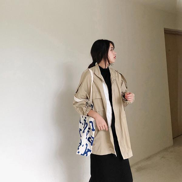 Casual Spring Elegant Trench Coat moda mujer 2019 Spring Women Clothes Korean Plus Size Trench Abrigos Mujer Elegante