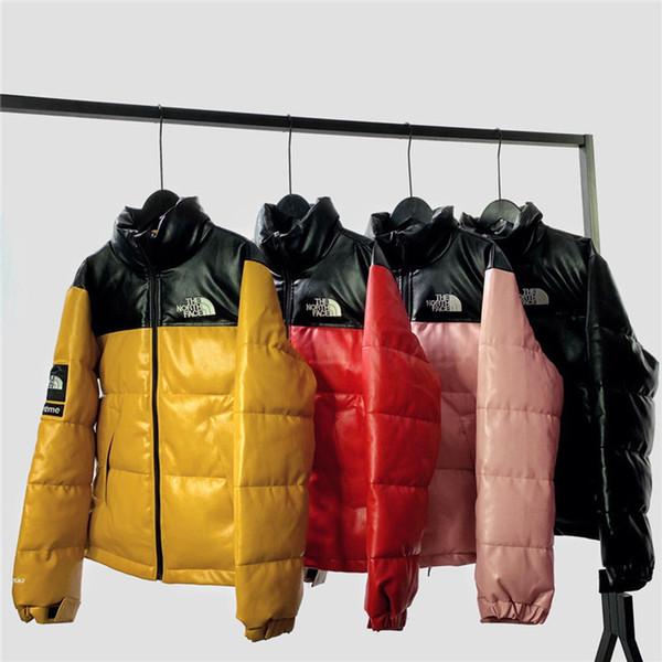 19aw Nouveau Le Nord x Sup cuir Winterbreaker Manteau embroiderd Lettres Hoodies Hommes Femmes Gore-Tex Outdoor Face Vestes Streetwear Sweat