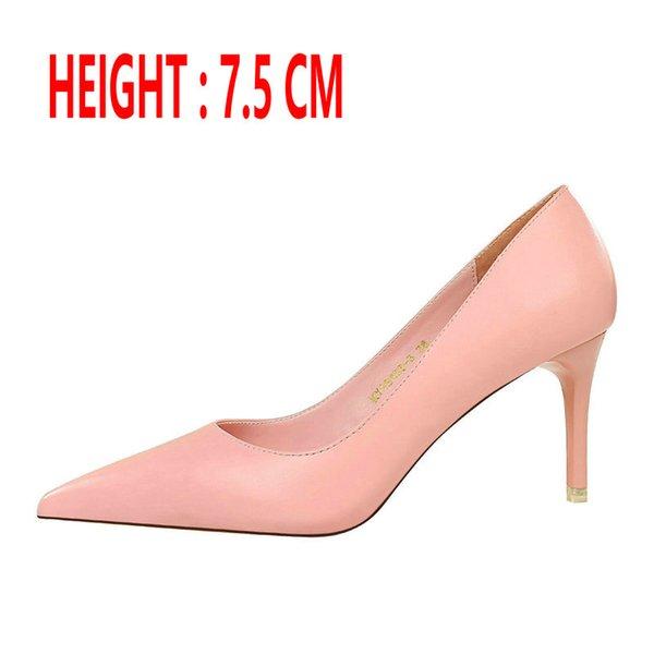 Talón de color rosa 7,5 CM