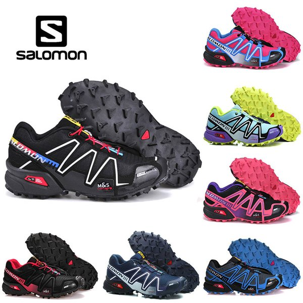 Salomon Speed cross 4 IV CS Running Shoes Mens Women Trail Run Shoe Outdoor Hiking Sneakers Black Red Designers Trainers Sports Size 36 46