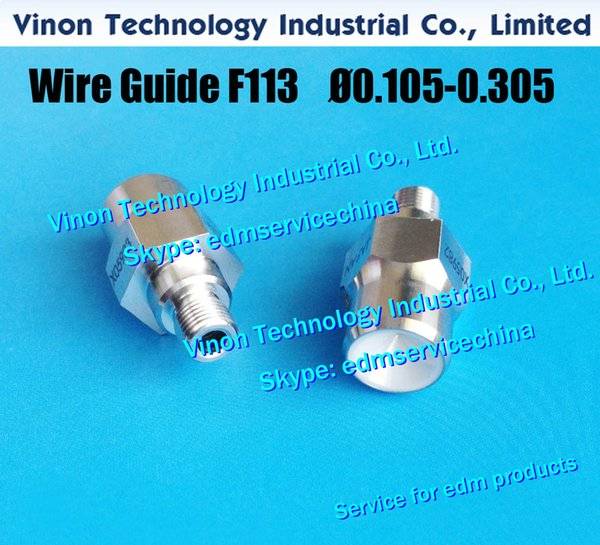 Ø0.255mm F113T/45T edm Wire Guide A290-8110-Z716 for taper 45 degree Lower for Fanuc A,B,C,iA,iB lower diamond guide d=0.255 A290-8104-X716
