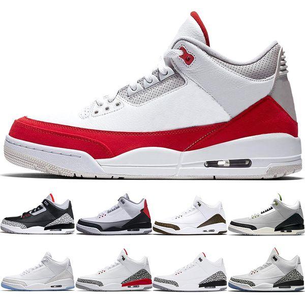 Nike Air Jordan 3 Retro Erkekler Basketbol Ayakkabıları Tinker Mocha JTH NRG Ücretsiz Atma Hattı Siyah Beyaz Çimento Katrina Chlorophyll Kore Trainer Spor Sneaker Boyutu 41-47