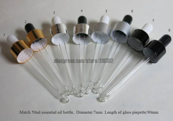 Tapón cuentagotas Tapón de botella Piepette Cuentagotas de vidrio Piepette, suministro de aceite esencial (suministros) Para cuello de 18 mm