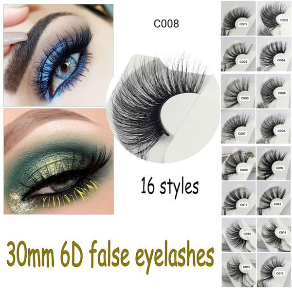 30mm 6D mink lashes extra length mink eyelashes Big dramatic volumn strip thick Crisscross false eyelashes