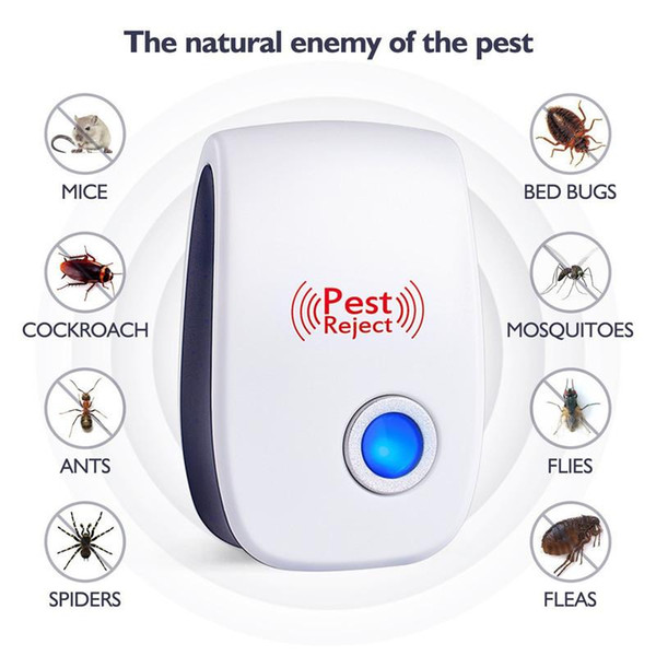 Pest Reject Electronic Cat Ultrasuoni Anti Mosquito Insect Killer Repeller Controllo Rat Mouse Blatta repellente UE / USA / UK / AU Plug