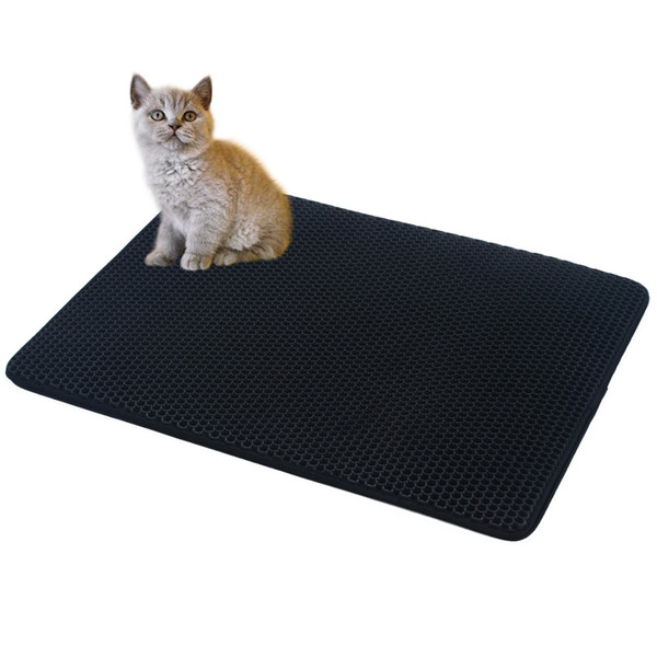 4 size 5 colors double-layer foldable cat litter mat trapper pad pet rug eco-friendly eva foam rubber durable quality