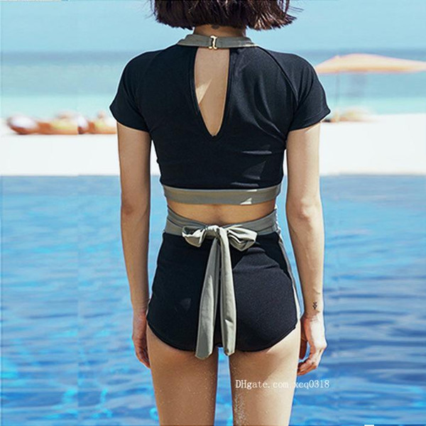 cloth 2019 The Women New Triangle Show Thin Falbala Fission Steel Supporting South Korea Small Chest Together Hot Spring Bathing Suit